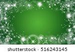 christmas background green | Shutterstock . vector #516243145