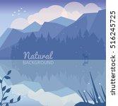 alaska landscape natural... | Shutterstock .eps vector #516245725