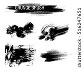 vector set of grunge brush... | Shutterstock .eps vector #516247651