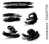 vector set of grunge brush... | Shutterstock .eps vector #516247735