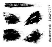 vector set of grunge brush... | Shutterstock .eps vector #516247747