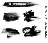vector set of grunge brush... | Shutterstock .eps vector #516247801