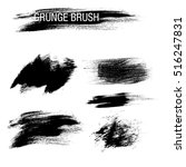 vector set of grunge brush... | Shutterstock .eps vector #516247831
