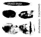 vector set of grunge brush...   Shutterstock .eps vector #516249445