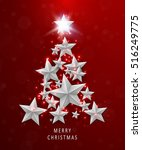 christmas and new years red... | Shutterstock .eps vector #516249775