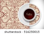 cup of coffee with doodle... | Shutterstock .eps vector #516250015