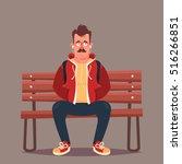 funny cartoon character. cool... | Shutterstock .eps vector #516266851