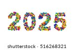 2025 new year greeting card... | Shutterstock . vector #516268321