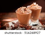 chocolate mousse | Shutterstock . vector #516268927