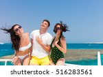 young people having fun and... | Shutterstock . vector #516283561