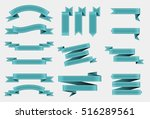 set of ribbons.vector ribbon...   Shutterstock .eps vector #516289561
