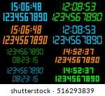 Digital Clock And A Set Of...