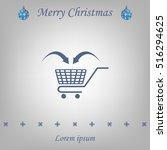 shopping cart icon | Shutterstock .eps vector #516294625