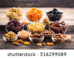 dried fruits and nuts in the... | Shutterstock . vector #516299089