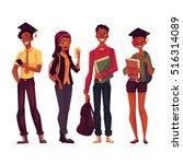 group of full height black... | Shutterstock .eps vector #516314089