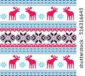 scandinavian style seamless ...   Shutterstock .eps vector #516316645