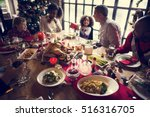 family together christmas... | Shutterstock . vector #516316705