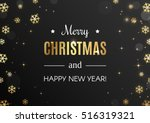 merry christmas card. gold... | Shutterstock .eps vector #516319321