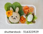 easter bunny healthy lunch box  ... | Shutterstock . vector #516323929