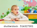 cute kid  boy with special... | Shutterstock . vector #516327301