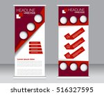 roll up banner stand template.... | Shutterstock .eps vector #516327595
