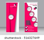 roll up banner stand template.... | Shutterstock .eps vector #516327649