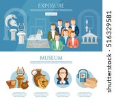 museum infographics history and ... | Shutterstock .eps vector #516329581
