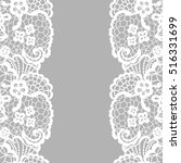 seamless lace border. vector... | Shutterstock .eps vector #516331699