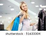 attractive blonde smiles in...   Shutterstock . vector #51633304