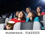 group of young men at cinema | Shutterstock . vector #51633325