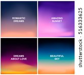 set of four blurred backgrounds.... | Shutterstock .eps vector #516333625