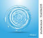 water circle. whirlpool ... | Shutterstock .eps vector #516336235