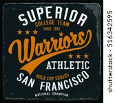 vintage varsity graphics and... | Shutterstock .eps vector #516342595