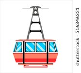 funicular railway  cable... | Shutterstock .eps vector #516346321