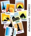 sightseeing photos vector | Shutterstock .eps vector #51634813