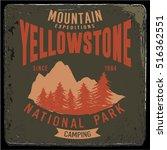 vintage vector of wilderness... | Shutterstock .eps vector #516362551