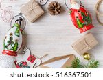 christmas background. holiday...   Shutterstock . vector #516367501