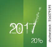 new year 2017 the end 2016... | Shutterstock .eps vector #516379195