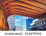 Small photo of VIENNA, AUSTRIA - APRIL 24, 2015; Austria Center Vienna ACV Conference center Architectural part of the Vienna International Center.