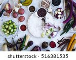 winter food ingredients.... | Shutterstock . vector #516381535