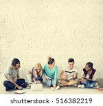 diversity students friends... | Shutterstock . vector #516382219