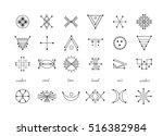 sacred geometry. set of minimal ... | Shutterstock .eps vector #516382984