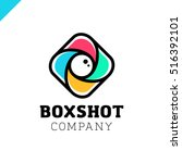 color square camera shutter... | Shutterstock .eps vector #516392101