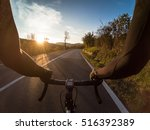 enjoying a bicycle ride in... | Shutterstock . vector #516392389