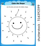 worksheet   join the dots  and... | Shutterstock .eps vector #516392599