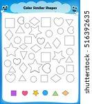 worksheet   color similar...   Shutterstock .eps vector #516392635