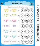 worksheet   count and color the ... | Shutterstock .eps vector #516392647