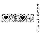 isolated love heart design   Shutterstock .eps vector #516393277