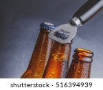 three fresh cold beer ale...   Shutterstock . vector #516394939
