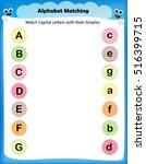 worksheet   match capital... | Shutterstock .eps vector #516399715